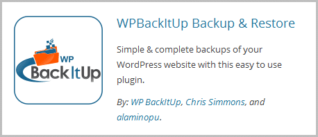 WPBackItUp Backup & Restore Plugin