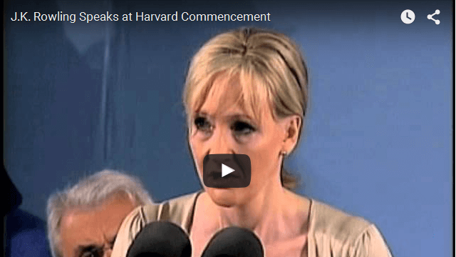 J.K Rowling Commencement Speech At Harvard University