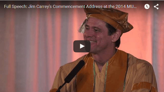 Jim Carrey Commencement Speech At Maharishi University of Management