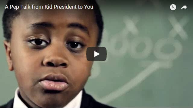 Kid President Pep Talk Viral Video