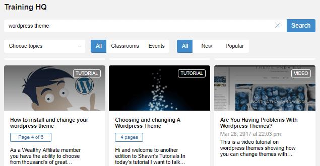 Wealthy Affiliate WordPress Themes