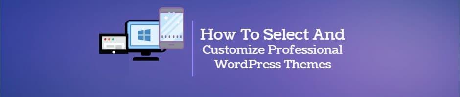 Select and Customize Professional WordPress Themes