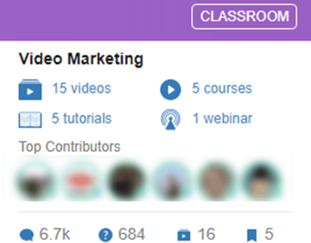 Wealthy Affiliates Video Marketing Classroom